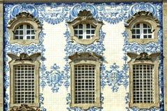 facade porto portugal Arkivfoton