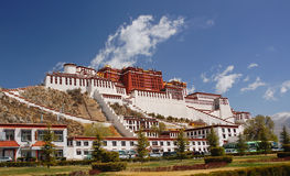 Facade of Potala palace Royalty Free Stock Image