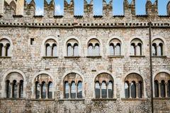 Facade of the Praetorian Palace in Trento, Italy. Royalty Free Stock Image