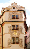 facade prague arkivfoton