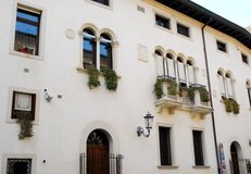 The facade of the presbytery of the cathedral in Padua in the Veneto (Italy) Royalty Free Stock Images