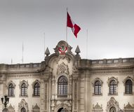 Facade of a president palace, Lima, Peru Royalty Free Stock Photos