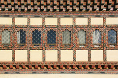 The facade of a private house in Gangtey, Bhutan Stock Photography
