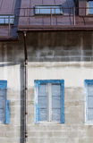 Facade with rain gutter Royalty Free Stock Photos
