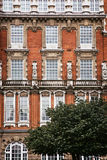 Facade of red brick building in London Royalty Free Stock Image