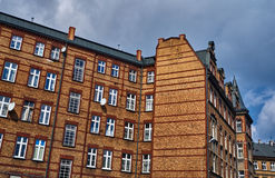 The facade of red brick building Stock Photography