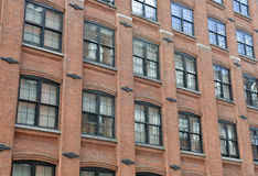 Facade of Red Brick Building Stock Images