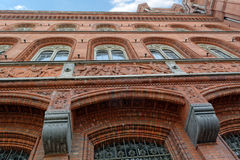 Facade of Red Town Hall (Rotes Rathaus) in Berlin, Germany Royalty Free Stock Photography
