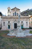 Sanctuary of Nostra Signora della Misericordia of Savona. The facade of the reinassance sanctuary of Nostra Signora della Misericordia near Savona royalty free stock images