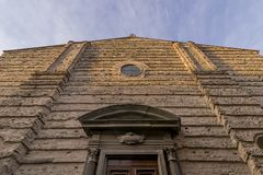 The facade of the Renaissance Basilica of the Madonna of Humility, Pistoia, Tuscany, Italy stock images