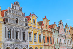 Facade of Renaissance houses in Telc, Czech Republic. (a UNESCO world heritage site Royalty Free Stock Photography