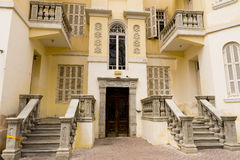 Facade of renewed old house Israel Royalty Free Stock Photo