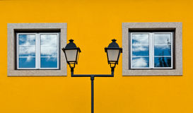 Facade. The Renovated Facade of the Old Portugal House Royalty Free Stock Photo