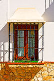 Facade. The Renovated Facade of the Old Spain House royalty free stock photography