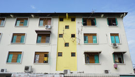 Facade of residental building in Penang, Malaysia Stock Photo