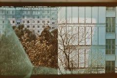 Facade of a residential building Stock Image