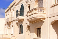 Facade of residential building with balcony Stock Photography