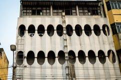 Facade of residential building in bangkok stock photography