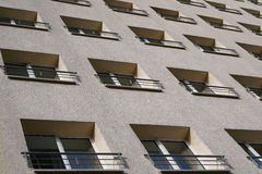 Facade. Of a residential building in Magdeburg stock photos