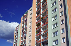 The facade of a residential high-rise building Stock Images
