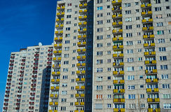 The facade of a residential high-rise building Royalty Free Stock Photography
