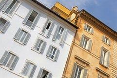 Facade of a residential home in Rome, Italy Stock Photos