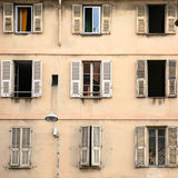 facade of residential house in Nice city Stock Photos