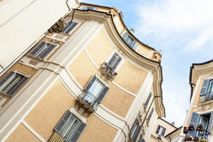 Facade of a residential house in Rome, Italy Stock Images