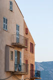 Facade residentual building Calvi Stock Photo