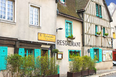 Facade of the restaurant in Chartres. Stock Images