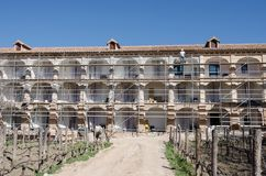 Facade restoration in Monasterio de Piedra Royalty Free Stock Photography