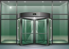 Facade with revolving doors Royalty Free Stock Image