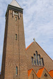 Facade of roman catholic St. Agatha church (St. Agathakerk) Royalty Free Stock Photography
