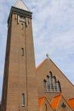 Facade of roman catholic St. Agatha church (St. Agathakerk) Royalty Free Stock Photography