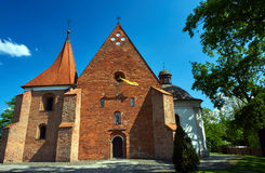 The facade of the Romanesque church of the Order of the Knights Stock Photography