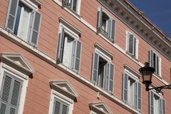 Facade in Rome Stock Photography