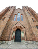 Facade of Roskilde Cathedral Royalty Free Stock Images