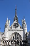 Facade of Royal Court of Justice in London stock image