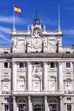 Facade of the Royal Palace in Madrid Royalty Free Stock Photography