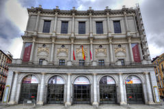 Facade of Royal Palace in Madrid Royalty Free Stock Image