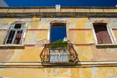 Facade of ruin Stock Image