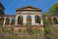Facade of a ruined building Royalty Free Stock Image