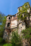 Facade of a ruined building Royalty Free Stock Photography