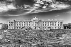 Facade of the Russian Academy of Arts, St. Petersburg, Russia Royalty Free Stock Image