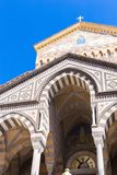 Facade of S. Andrea cathedral in Amalfi - Italy. Facade of S. Andrea cathedral in Amalfi Royalty Free Stock Photography