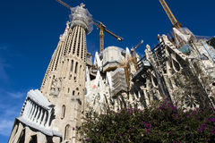 Facade of the Sagrada Familia in Barcelona, Catalonia, Spain Stock Photo