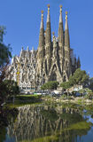 Facade Sagrada Familia Barcelona Spain royalty free stock photo