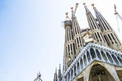 Sagrada Familia in Barcelona, Spain. Facade of Sagrada Familia in Barcelona, Spain royalty free stock photo