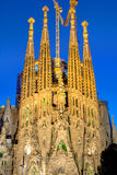 Facade of the Sagrada Familia Royalty Free Stock Image