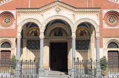 Facade of Saint Eufemia church in Milan Royalty Free Stock Photography